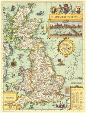 Shakespeare's Britain Map 1964