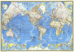 World Map 1970