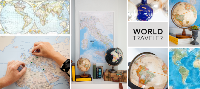 Maps Gifts for the World Traveler – World Traveler Maps