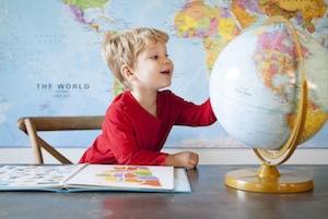 Every child should have one globe in their lifetime.